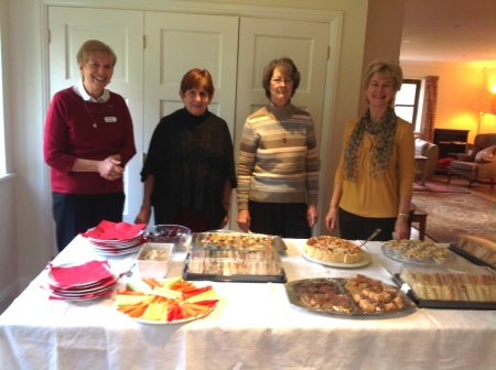 Members of the AVB committee preparing the Christmas Buffet lunch for our volunteers